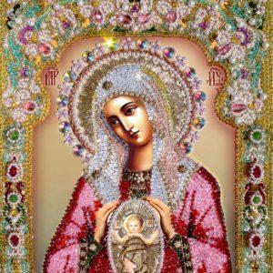 Образа в кменьях Богородица помощница в родах