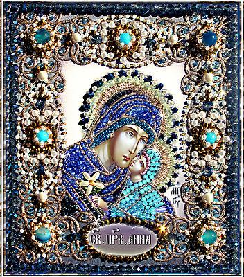 Образа в каменьях икона Святая Анна арт. 77-и-26
