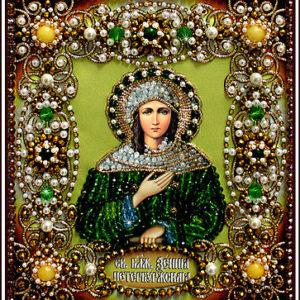 Образа в каменьях икона Святая Ксения арт. 77-и-54