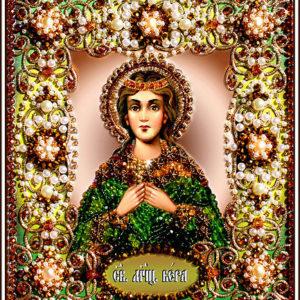 Образа в каменьях икона Святая Вера арт. 77-и-17