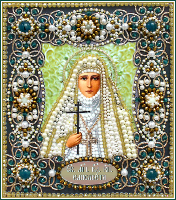 Образа в каменьях икона Святая Елизавета арт. 77-и-61