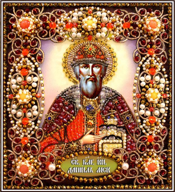 Образа в каменьях икона Святой Даниил арт. 77-и-37