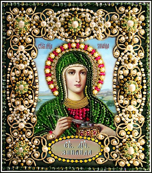 Образа в каменьях икона Святая Зинаида арт. 77-И-71
