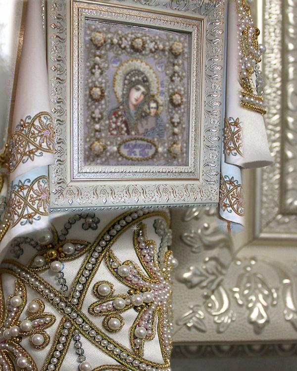 Образа в каменьях Рушник венчальный малый 50х150см арт. 77-Р-03