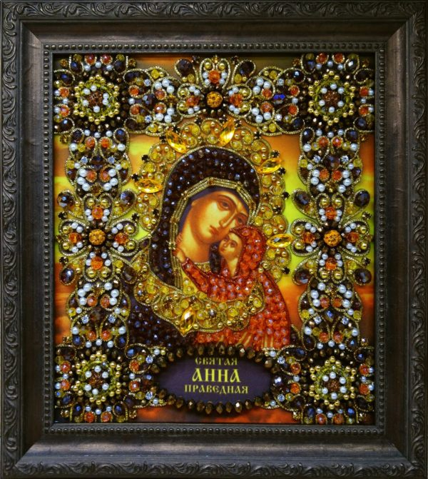 Хрустальные грани Образ Святой Анны Праведной арт. Ии-12