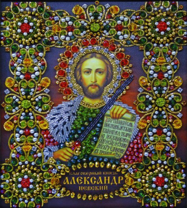 Хрустальные грани Образ Святого Александра Невского арт. Ии-04