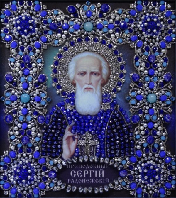 Хрустальные грани Образ Святого Сергия Радонежского арт. Ии-05