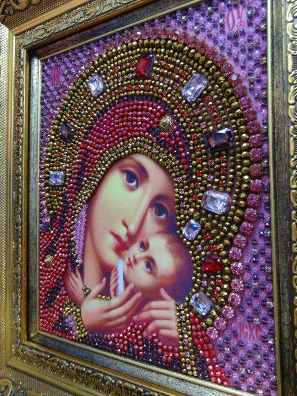 Хрустальные грани Образ Божьей Матери Касперовская арт. И8