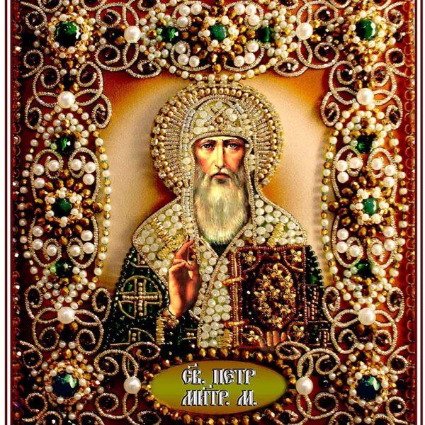 Образа в каменьях икона Святой Петр арт. 77-И-39