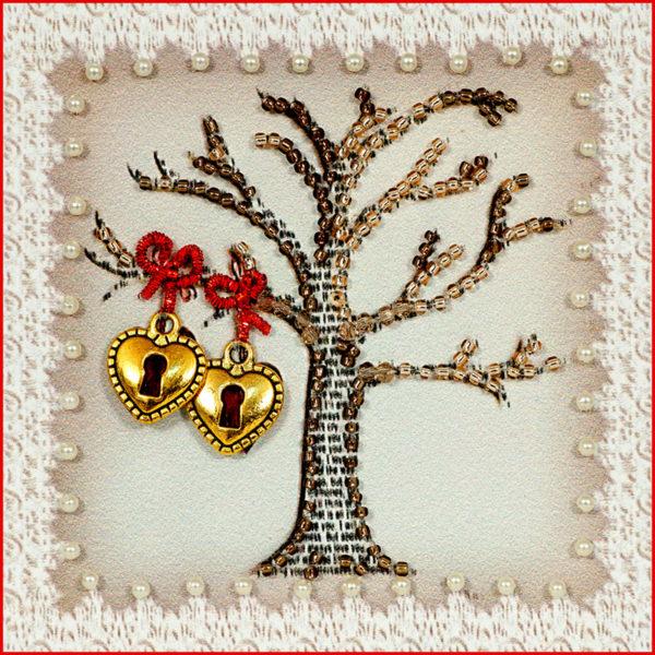 Образа в каменьях магнит Дерево любви арт. М-39