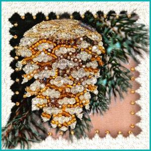 Образа в каменьях магнит Шишка арт. М-20